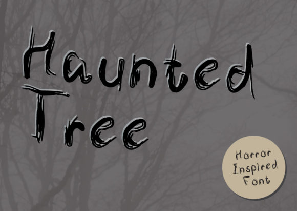 Print on Demand: Haunted Tree Display Font By GraphicsBam Fonts