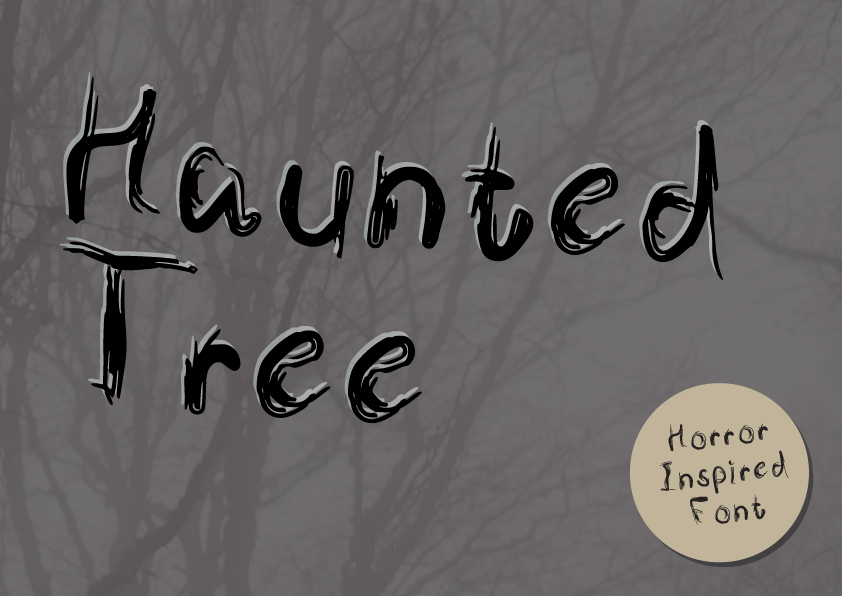 Download Free Haunted Tree Font By Graphicsbam Fonts Creative Fabrica for Cricut Explore, Silhouette and other cutting machines.