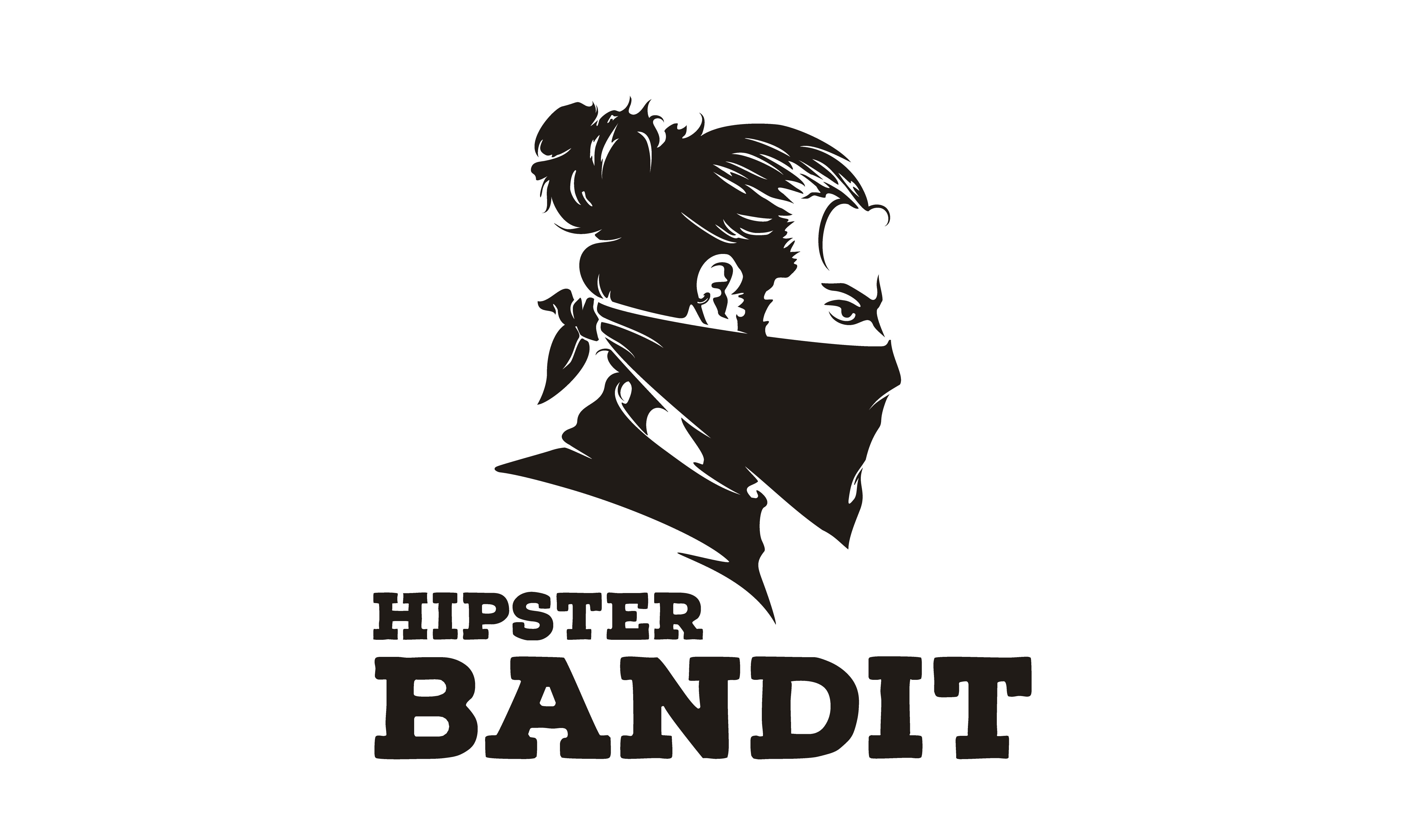 Download Free Hipster Bun Hair Bandit Scarf Mask Logo Graphic By Enola99d for Cricut Explore, Silhouette and other cutting machines.