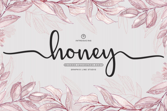 Print on Demand: Honey Manuscrita Fuente Por Graphix Line Studio