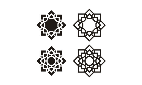 Download Free Islamic Stained Glass Pattern Mosaic Art Graphic By Enola99d for Cricut Explore, Silhouette and other cutting machines.