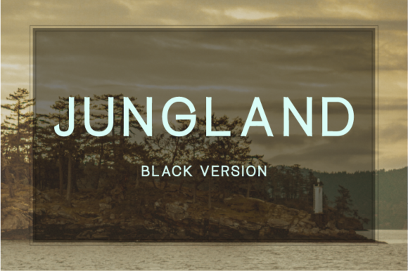 Print on Demand: Jungland Black Sans Serif Font By Nan Design