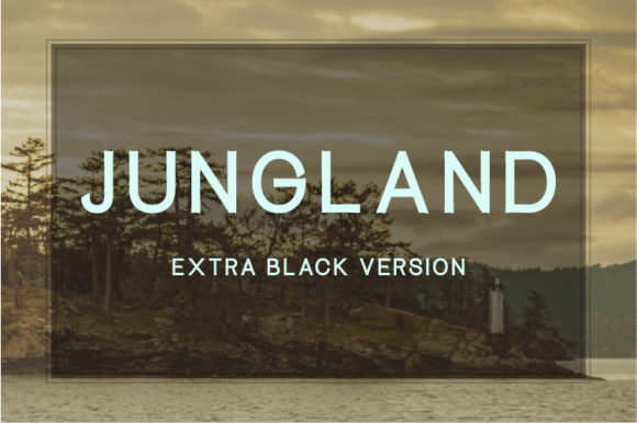 Print on Demand: Jungland Extra Black Sans Serif Font By Nan Design