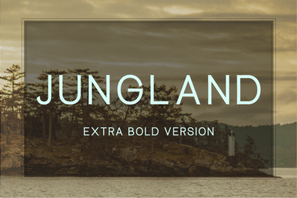 Print on Demand: Jungland Extra Bold Sans Serif Font By Nan Design
