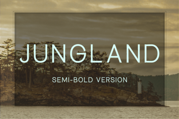 Print on Demand: Jungland Semi-Bold Sans Serif Font By Nan Design
