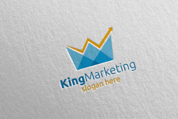 Download Free King Marketing Financial Advisor Logo 69 Graphic By Denayunecf for Cricut Explore, Silhouette and other cutting machines.