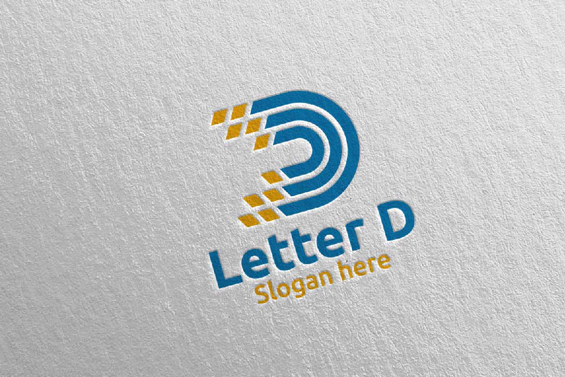 Download Free Letter D Digital Marketing Logo 65 Graphic By Denayunecf for Cricut Explore, Silhouette and other cutting machines.