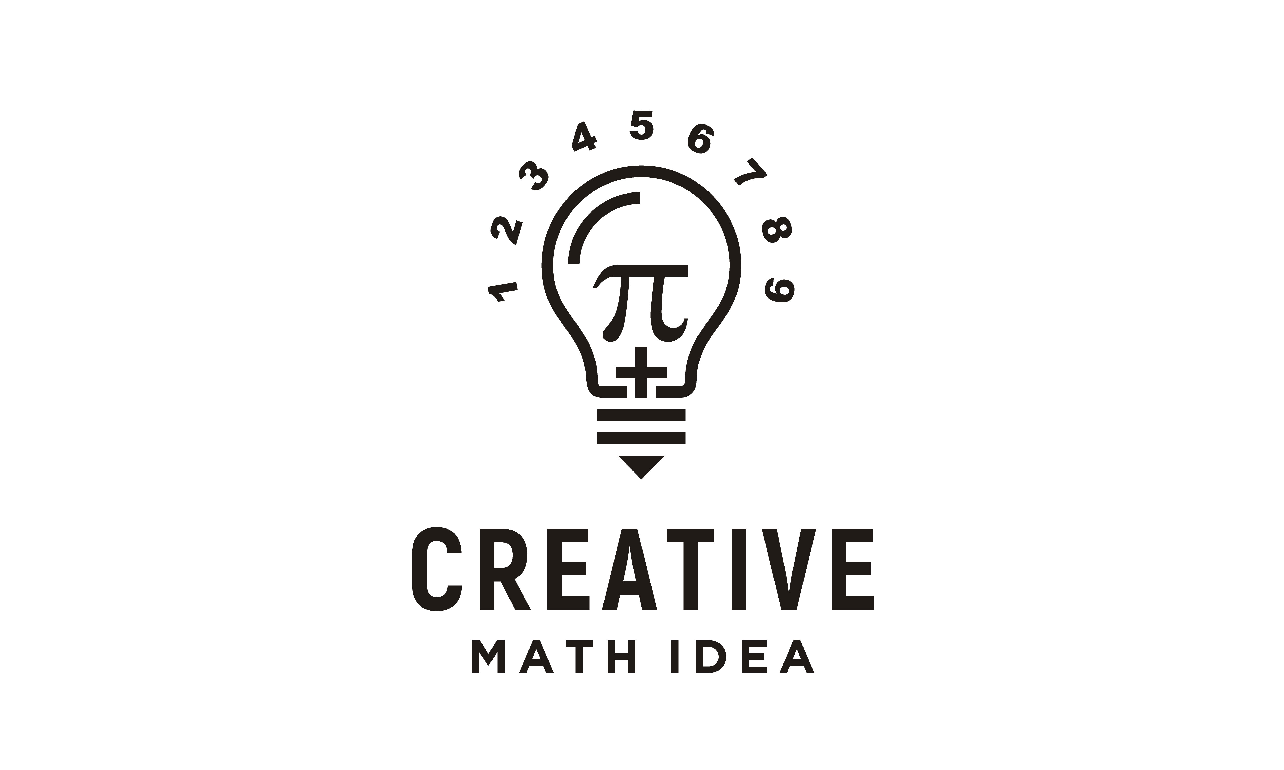 Download Free Light Bulb Pi Numeric Mathematics Logo Graphic By Enola99d for Cricut Explore, Silhouette and other cutting machines.