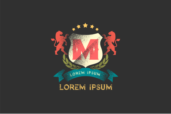 Print on Demand: Logo Heraldic Retro-Vintage Letter M Graphic Logos By PakpahanMarg