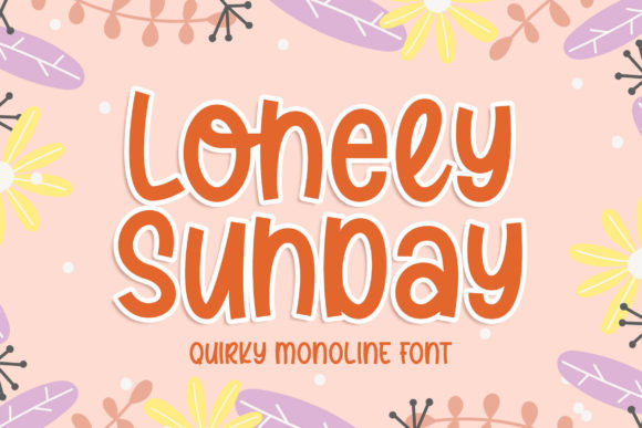 Print on Demand: Lonely Sunday Script & Handwritten Font By Blankids Studio