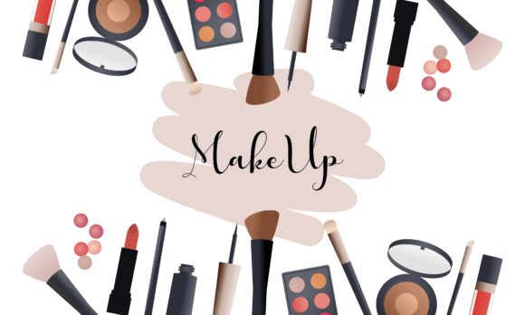 Makeup Beauty and Cosmetics Icons Vector Graphic Logos By DEEMKA STUDIO