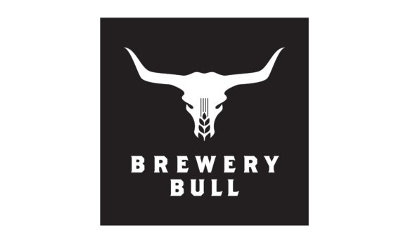 Download Free Malt Wheat Beer Bull Skull Brewery Logo Grafico Por Enola99d for Cricut Explore, Silhouette and other cutting machines.