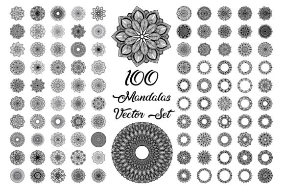 Mandala Vector Flower Pattern Grafik Icons von pohdeedesign