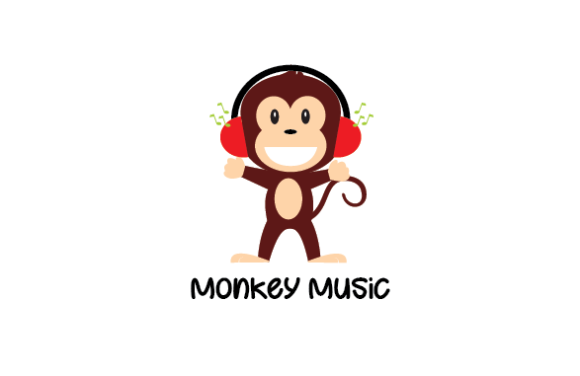 Download Free Monkey Music Logo Graphic By Redvy Creative Creative Fabrica for Cricut Explore, Silhouette and other cutting machines.