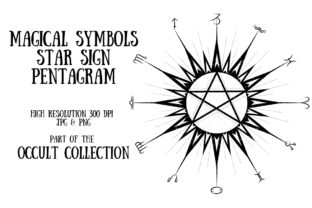Occult Collection: Magical Pentagram Graphic Illustrations By My Little Black Heart