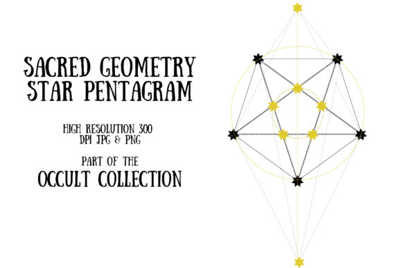 Occult Collection: Sacred Pentagram Graphic Illustrations By My Little Black Heart