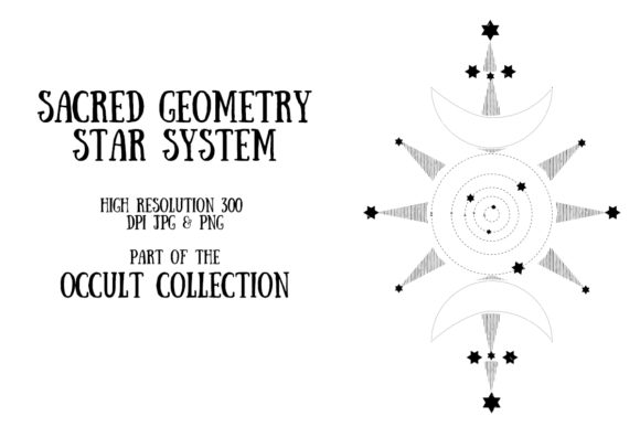 Occult Collection: Star System Graphic Illustrations By My Little Black Heart