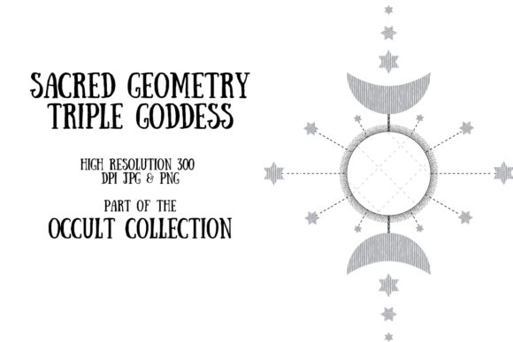 Occult Collection: Triple Goddess Graphic Illustrations By My Little Black Heart
