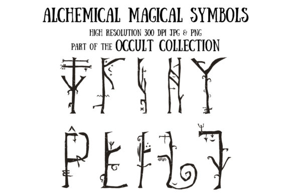 Occult Collection: Alchemical Symbols Graphic Illustrations By My Little Black Heart