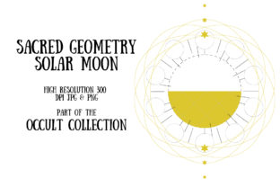 Occult Collection: Solar Moon Graphic Illustrations By My Little Black Heart