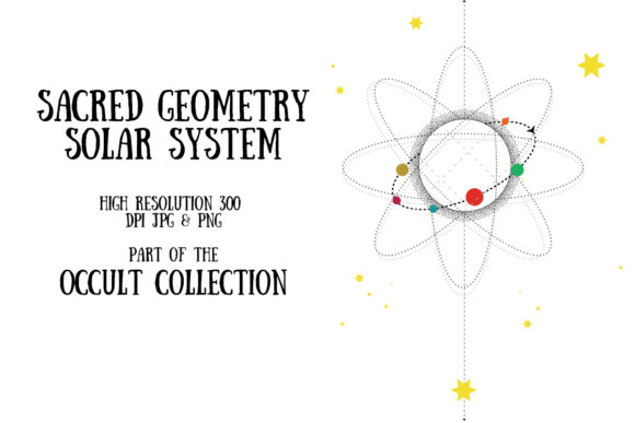 Occult Collection: Solar System Graphic Illustrations By My Little Black Heart