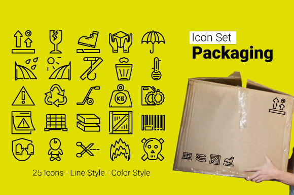 Packaging Icon Graphic Icons By edwin.misran