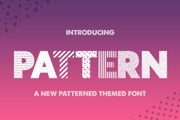 Print on Demand: Pattern Display Font By Salt & Pepper Designs