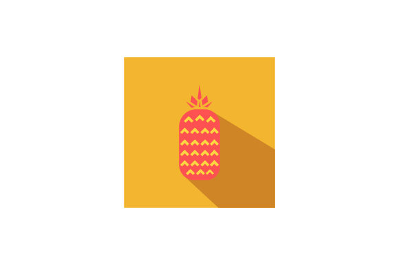 Download Free Pineapple Flat Icon Vector Graphic By Riduwan Molla Creative for Cricut Explore, Silhouette and other cutting machines.