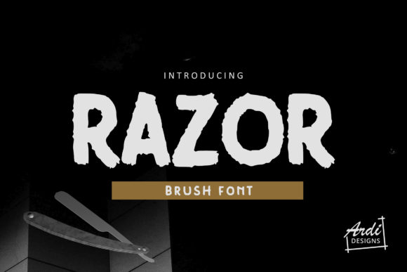 Print on Demand: Razor Sans Serif Font By ArdiDesigns