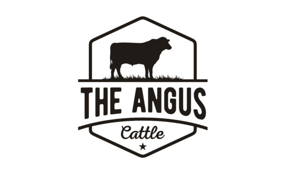 Print on Demand: Retro Vintage Cattle Angus Label Logo Graphic Logos By Enola99d