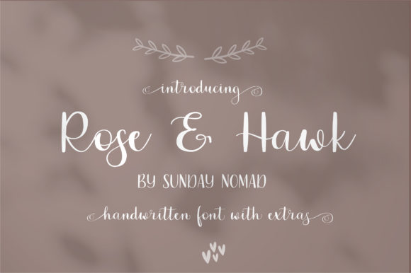 Print on Demand: Rose & Hawk Script & Handwritten Font By sunday nomad