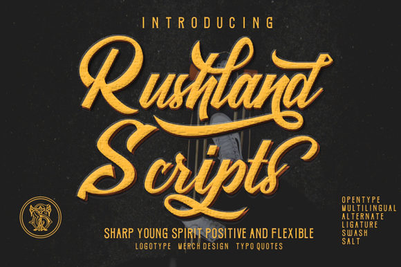 Print on Demand: Rushland Script & Handwritten Font By victoriant99