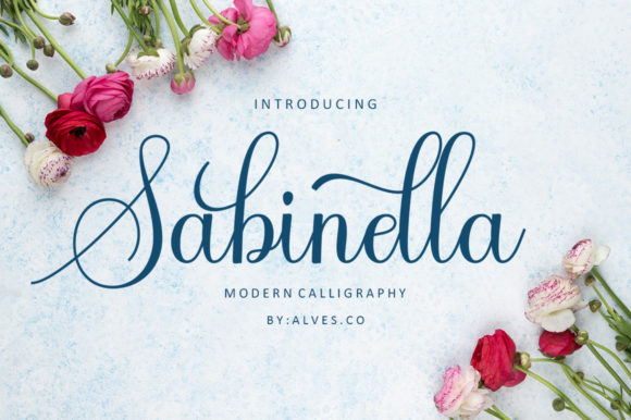 Print on Demand: Sabinella Script & Handwritten Font By alvesco801