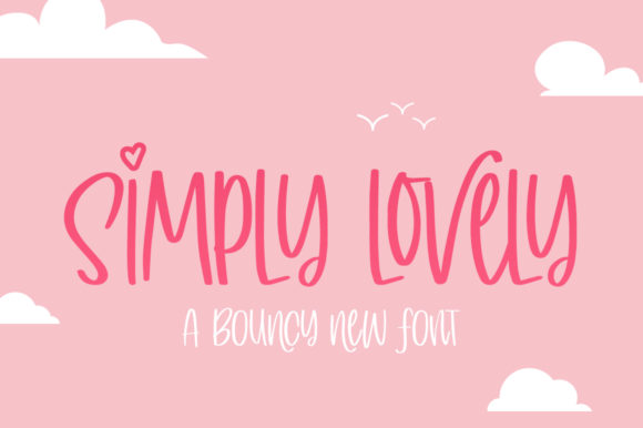 Print on Demand: Simply Lovely Display Font By Salt & Pepper Designs