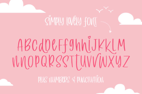 Print on Demand: Simply Lovely Display Font By Salt & Pepper Designs - Image 6