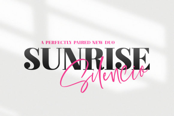 Print on Demand: Sunrise Silencio Duo Script & Handwritten Font By Salt & Pepper Designs
