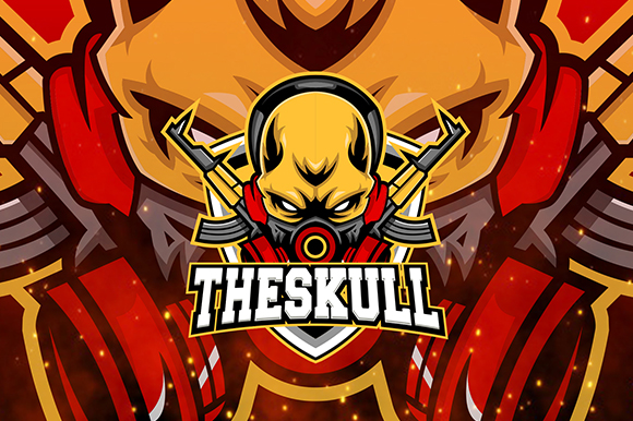 Download Free The Skull Esport Logo Graphic By Nabila Studio Creative Fabrica for Cricut Explore, Silhouette and other cutting machines.
