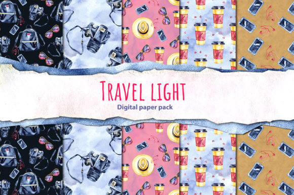 Travel Light - Seamless Patterns Graphic Illustrations By NataliMyaStore - Image 3
