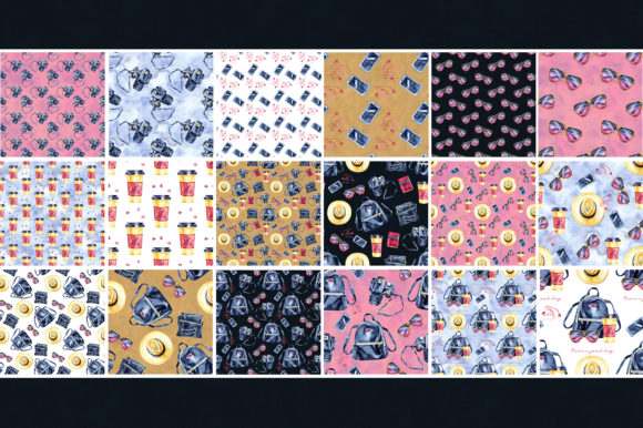 Travel Light - Seamless Patterns Graphic Illustrations By NataliMyaStore - Image 6
