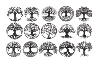 Download Free Tree Of Life Bundle Clip Art Graphic By Meshaarts Creative Fabrica SVG Cut Files
