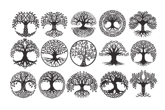 Print on Demand: Tree of Life Bundle Clip Art Graphic Crafts By MeshaArts