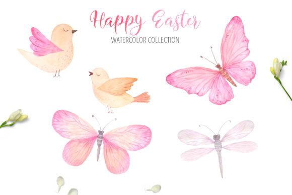 Watercolor Happy Easter Collection Graphic Illustrations By Larysa Zabrotskaya - Image 9