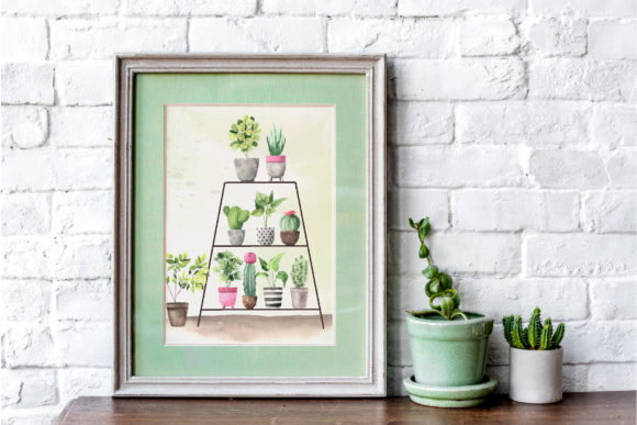 Download Free Watercolor House Plants Collection Graphic By Larysa Zabrotskaya for Cricut Explore, Silhouette and other cutting machines.