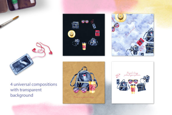 Watercolor Travel Light Cliparts Graphic Illustrations By NataliMyaStore - Image 5