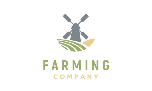 Download Free Windmill Barn Farm Field Nature Logo Graphic By Enola99d for Cricut Explore, Silhouette and other cutting machines.