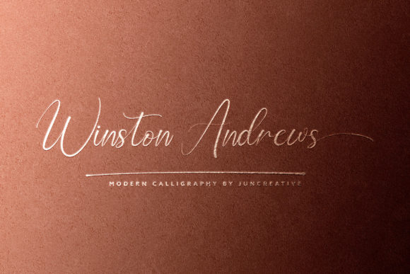 Print on Demand: Winston Andrews Script & Handwritten Font By Juncreative