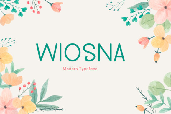 Print on Demand: Wiosna Display Font By Seemly Fonts
