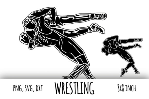 Download Free Wrestling Sport Clipart Fight Graphic By Bunart Creative Fabrica for Cricut Explore, Silhouette and other cutting machines.