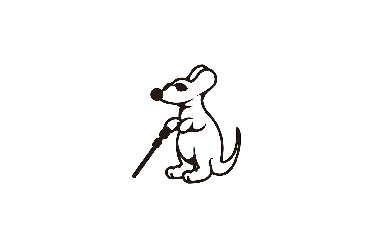 Download Free Blind Mice Mouse With Sunglasses And St Graphic By for Cricut Explore, Silhouette and other cutting machines.