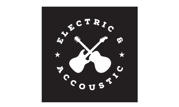 Download Free Cross Guitar Music Band Vintage Logo Graphic By Enola99d for Cricut Explore, Silhouette and other cutting machines.